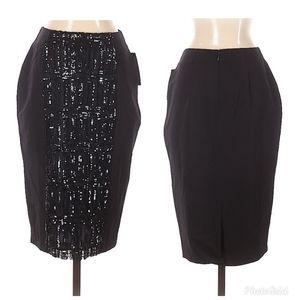 Worthington Pencil Skirt Womans 4P Black S…
